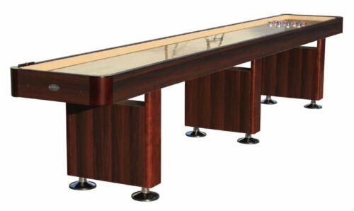 "14 foot SHUFFLEBOARD TABLE ""THE STANDARD"" in ESPRESSO~BERNER BILLIARDS~GAME ROOM"