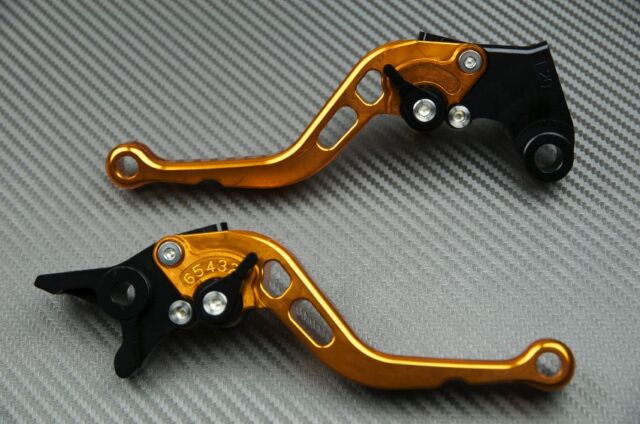 Short Brake & Clutch Levers Lever Pair Orange CNC SUZUKI GSXR 600 SRAD 1997-2000