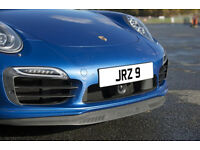 JRZ 9 Dateless Personalised Number Plate Audi BMW Volvo Ford Evo Subar