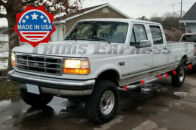 1987-1996 Ford F-Series Pickup Crew Cab Long Bed Chrome Rocker Panel Trim-6""