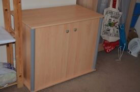 Computer hide-away cabinet/table with slide out keyboard