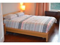 REDUCED: King bedframe (Malm, from Ikea) in good shape