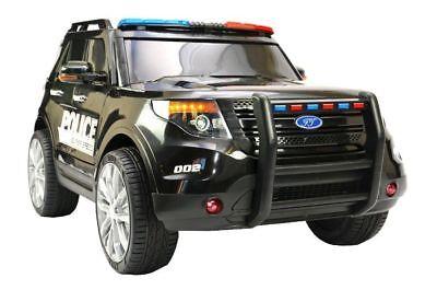 Jeep Geländewagen Kinder Polizei SUV Elektroauto Kinderauto 2 Motoren MP3 LED