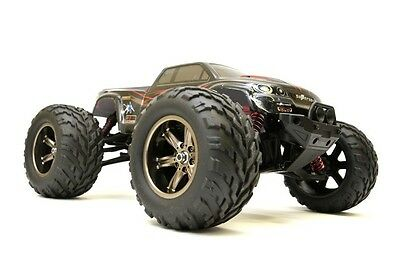 "RC Auto Monster Truck ""Challenger Turbo"" 1:12, 2.4Ghz, 40+ Km/H  Schwarz-Rot"