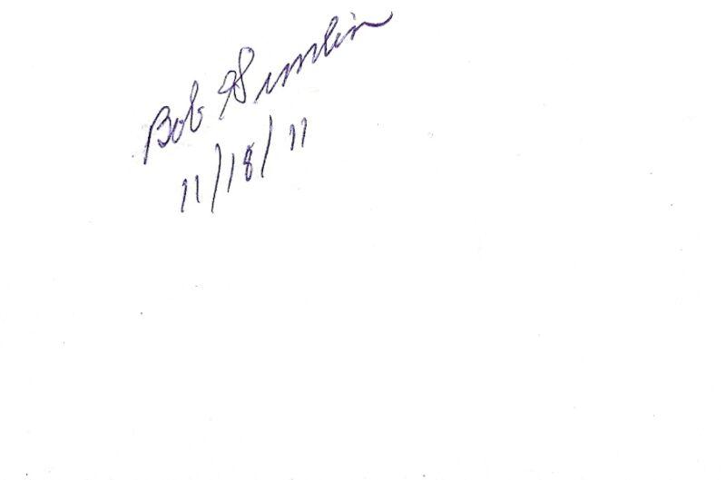 "Bob Gimlin signed autograph ""Bigfoot"" Patterson-Gimlin EXTRA RARE COA LOOK!!!"