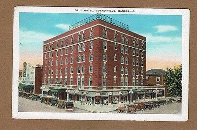 Coffeyville Ks Kansas Dale Hotel 1920S Cars