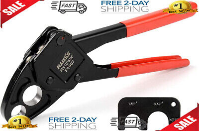 Combo Angle Head Pex Pipe Plumbing Crimping Tool For Copper Crimp Jaw Sets