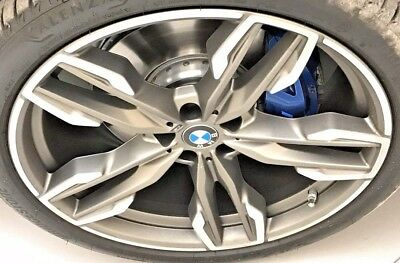 "BMW OEM G01 X3 G02 X4 G05 X5 Radial Double Spoke Style 718M 21"" Titanium Matt"