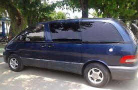 1996 M Toyota Estima Emina 2.2D Diesel - 2Wd - 4 Speed auto - 8 seater - blue - previa - clean car