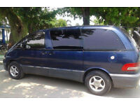 1996 M Toyota Estima Emina 2.2D Diesel - 2Wd - 4 Speed auto - 8 seater - blue - previa - clean car