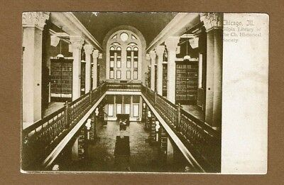Chicago,IL Illinois, Gilpin Library Library of Historical Society,circa pre 1907