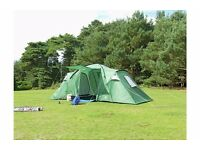6 man 2 room trespass tent