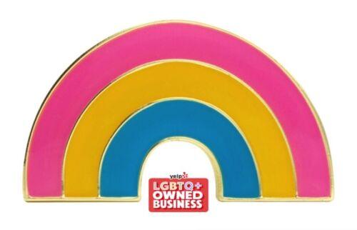 """Pansexual Rainbow Lapel Pin 1"""" x 1/2"""" Gay Lesbian Pride LGBTQIA Hat Tie Tack"""