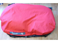 Large Red Gunner Dog Bed 135 x 86cm