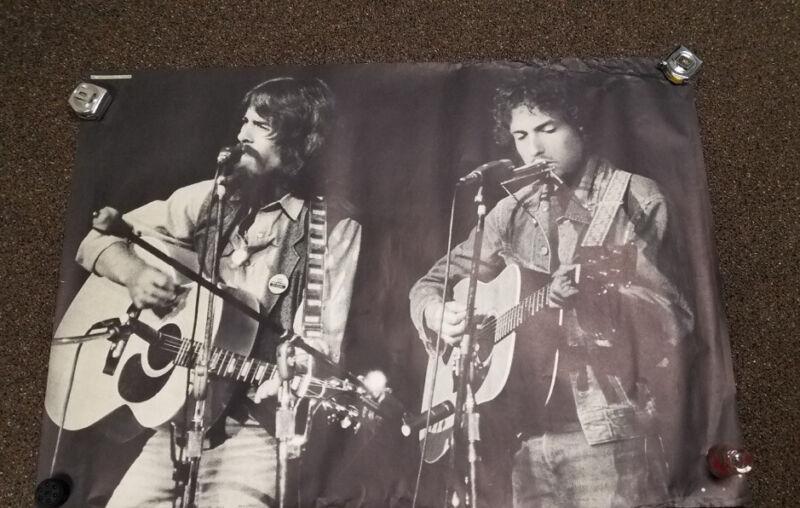 VTG 1971 Concert for Bangladesh George Harrison/ Bob Dylan Original B&W Poster
