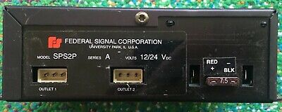 Federal Signal Strobe Power Supply - Model Sps2p Series A Volts 1224 - Works