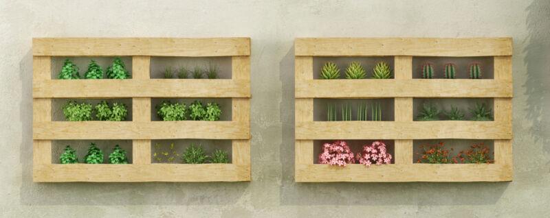 Die Alternative: Einfach Paletten zum Regal umfunktionieren und hinstellen oder an die Wand hängen. (© Thinkstock)