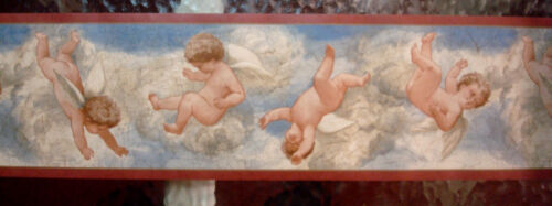 """Wallquest - Angels Playing In The Clouds - 7"""" Wallpaper Border - 2+ rolls - 36ft"""