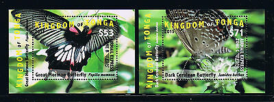 Tonga - 2015 Butterflies EMS Rates Part 2 Postage Deluxe Stamp Set