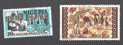 NIGERIA - SCOTT's # 267 AND 301A - USED STAMPS
