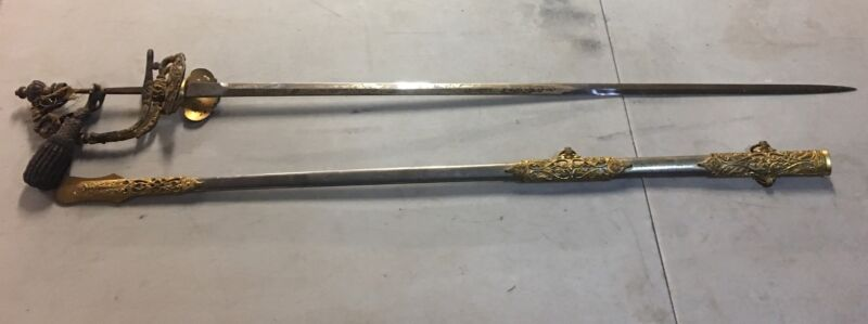 Unique Post Civil War H.V Allien Presentation Sword To FDNY Captain With Honors