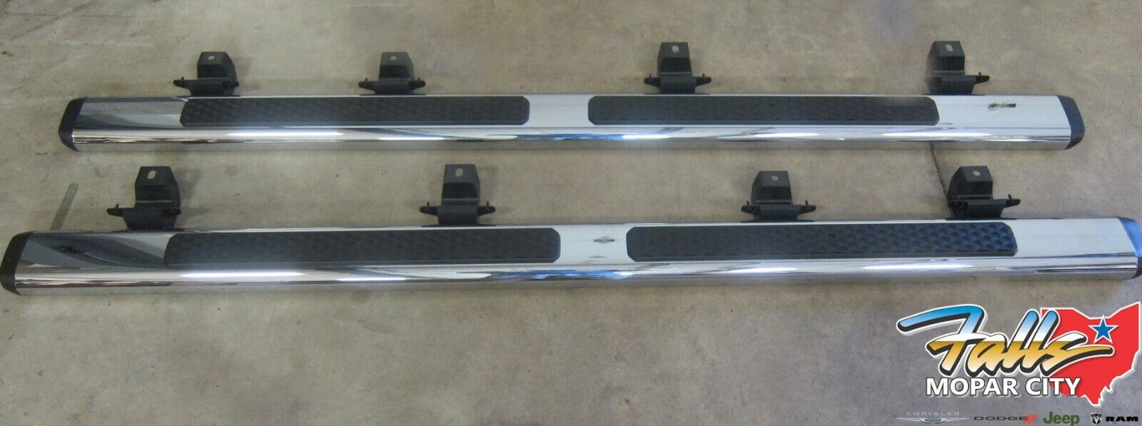2020 Jeep Gladiator Chrome Tubular Side Steps New Mopar Oem Ebay
