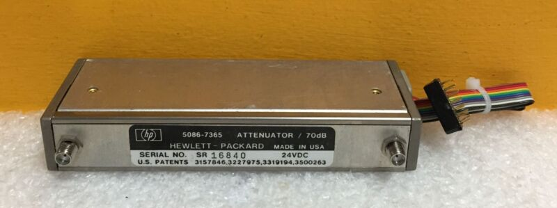 HP Agilent 5086-7365 DC to 22 GHz, 70 dB, Programmable Step Attenuator Tested!