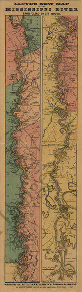 Map of the Mississippi River c18^3 10x33