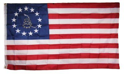 3x5 Betsy Ross Nyberg Gadsden Snake 3 Percent % Flag 3'x5' Banner grommets  for sale  Shipping to Canada