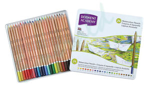 Derwent-Academy-WATERCOLOUR-Assorted-Pencils-Tin-of-24-Same-Day-Dispatch