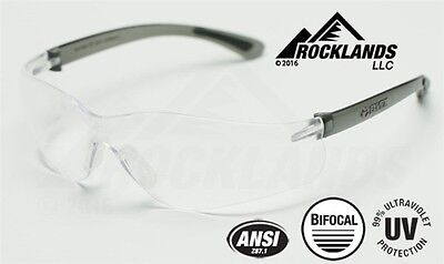 Elvex RX450™ Bifocal Safety/Reading Glasses Clear 2.0 Magnifier Z87.1 NEW