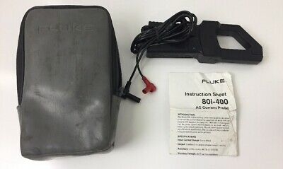 Fluke 80i-400 Ac Current Clamp Probe W Case And Manual