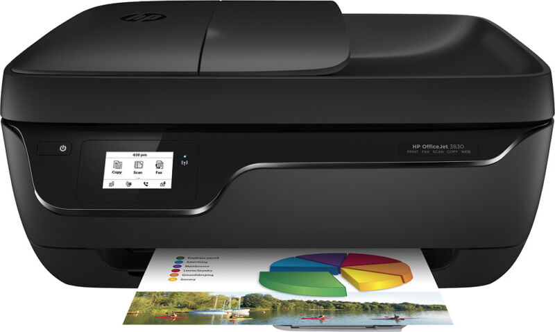 HP - OfficeJet 3830 Wireless All-In-One Instant Ink Ready Inkjet Printer - Black