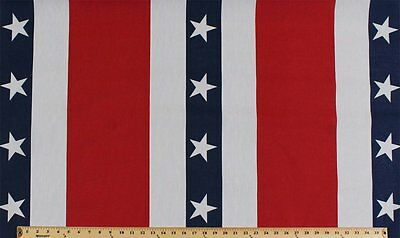 Patriotic USA Red White Blue Bunting Banner Fabric Print D252.07](Patriotic Banner)
