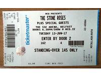 Stone Roses ticket Belfast 13 June 2017