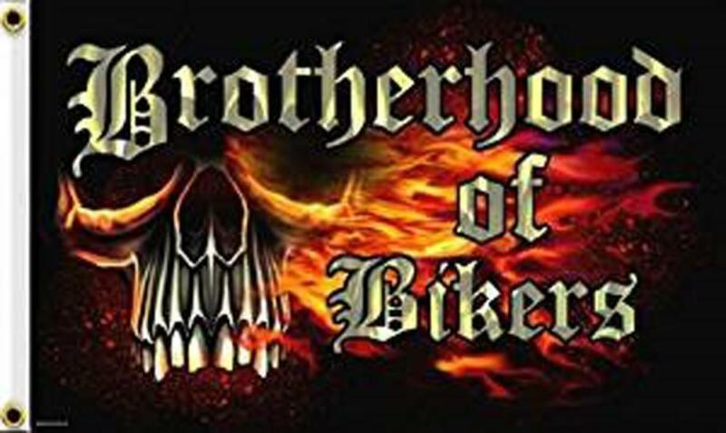 BROTHER HOOD  3 X 5 MOTORCYCLE DELUXE BIKER FLAG #395 new BIKE BROTHERS NEW SIGN
