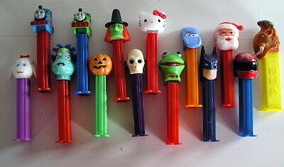 14 Pez Dispenser Nascar Kermit Pixar Hello Kitty Santa Thomas the Train Skull