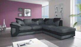 ❋★❋ DINO CORNER SOFA ❋★❋ JUMBO CORD + LEATHER ❋★❋ AVAILABLE IN DIFFERENT COLOURS* *BRAND NEW*