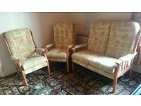 3 piece cottage sofa suite / conservatory furniture