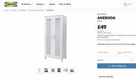 EXCELLENT CONDITION Aneboda IKEA Wardrobe beech wood colour