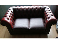 Red Lather Sofa
