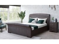 KING SIZE Rimini Faux Leather Bed Frame