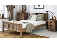 Verona Wooden Oak distressed KING size Bed Frame