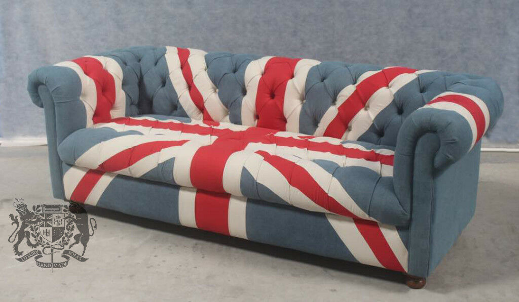 Brand New Union Jack Furniture Union Jack British Flag 3 Seat