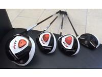 Taylor made R11 driver, 3 & 5 wood with hybrid
