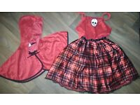GIRLS HALLOWEEN COSTUME - 'BAD RED RIDING HOOD' - AGE 9-10