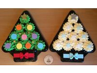 Christmas Tree Cupcake Platters