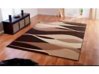 Cream/brown rug large new