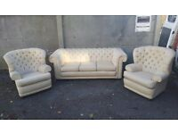 3 seater chesterfield sofa and armchairs and extra New covers