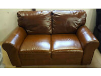 Ex Display Heart of House Salisbury Regular Leather Sofa - Tan. Can deliver